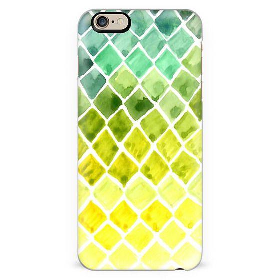 Watercolor Ombre Honeycomb - Transparent