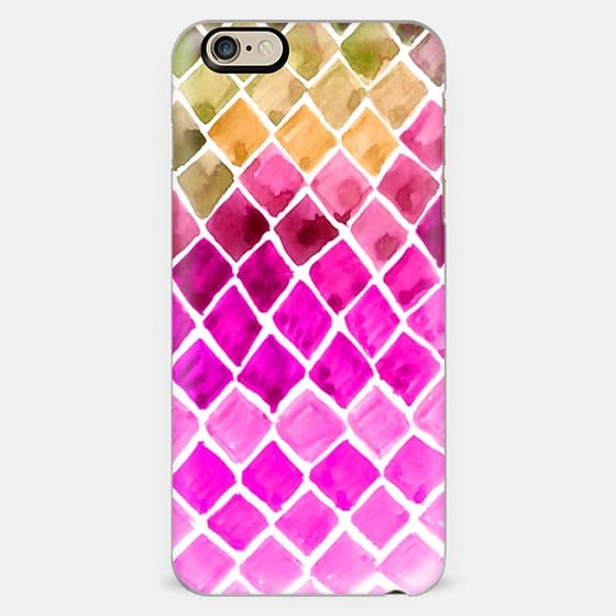 Watercolor Ombre Honeycomb -