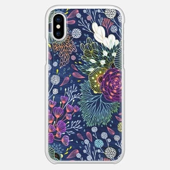 iPhone X Case Dark Floral