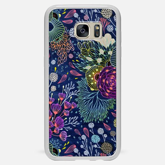Galaxy S7 Edge Case - Dark Floral