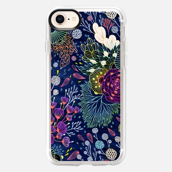 iPhone 8 保護殼 - Dark Floral