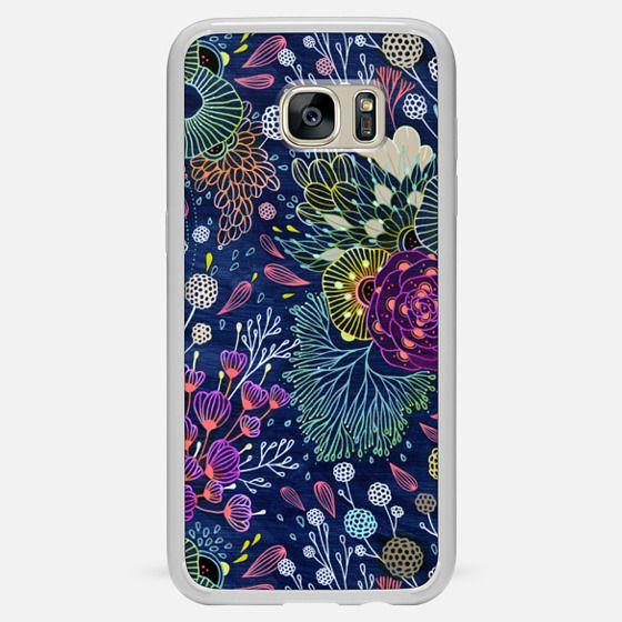 Galaxy S7 Edge Hülle - Dark Floral