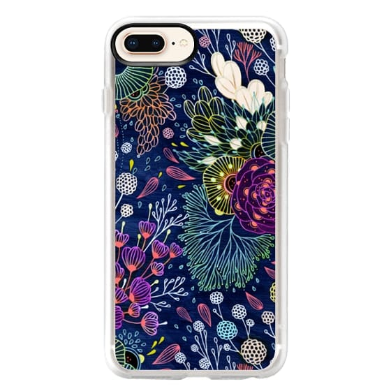 iPhone 8 Plus Hülle - Dark Floral