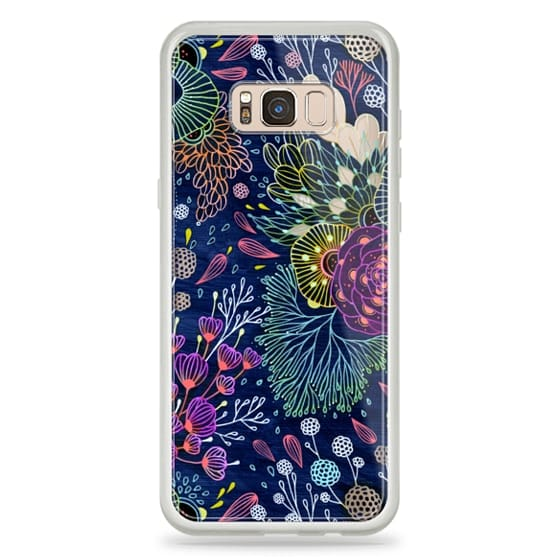 Galaxy S8 Plus Capa - Dark Floral