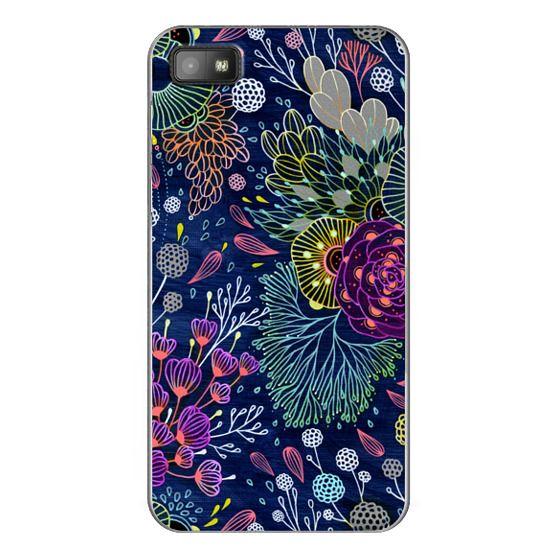 Blackberry Z10 Cases - Dark Floral