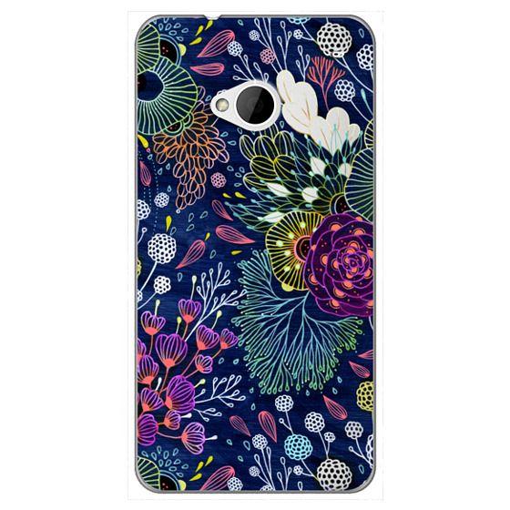 Htc One Cases - Dark Floral