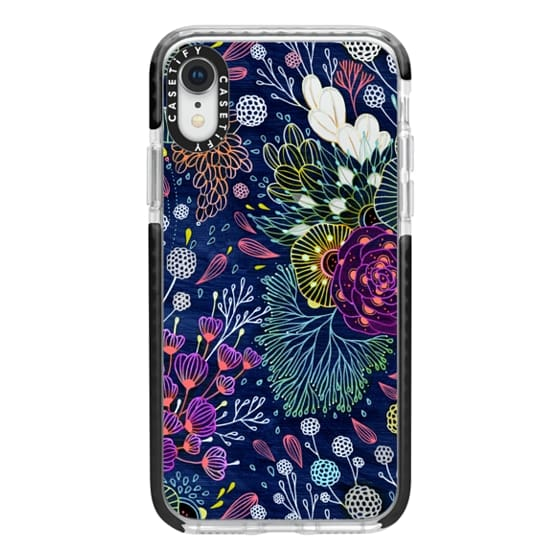 iPhone XR Cases - Dark Floral