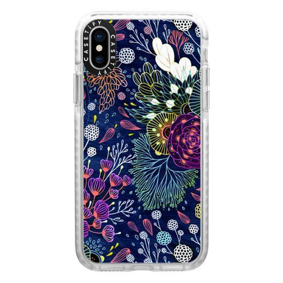 iPhone X Cases - Dark Floral