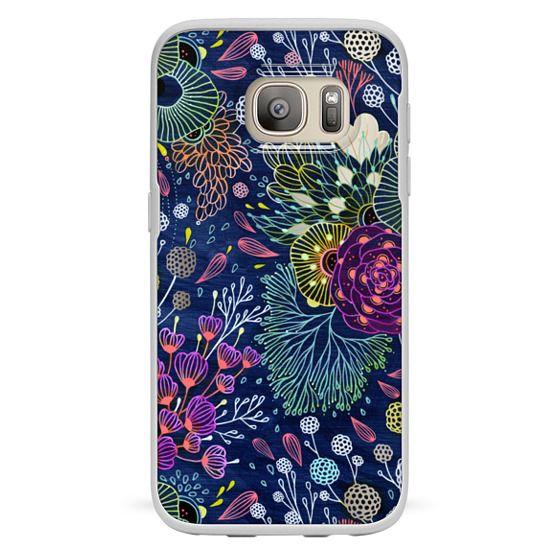 Samsung Galaxy S7 Cases - Dark Floral