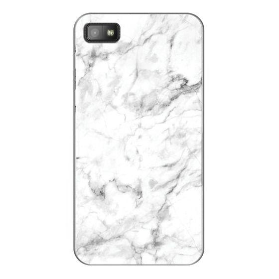 Blackberry Z10 Cases - White Marble