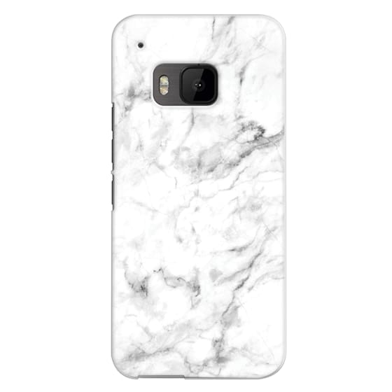 Htc One M9 Cases - White Marble