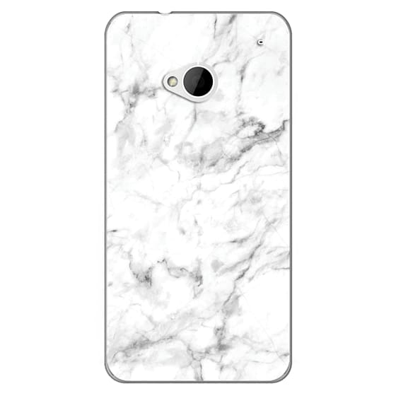 Htc One Cases - White Marble