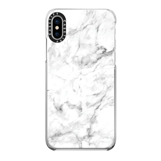 iPhone X Cases - White Marble