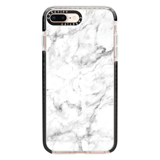 iPhone 8 Plus Cases - White Marble