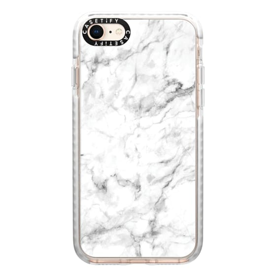 iPhone 8 Cases - White Marble