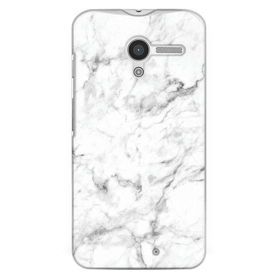 Moto X Cases - White Marble