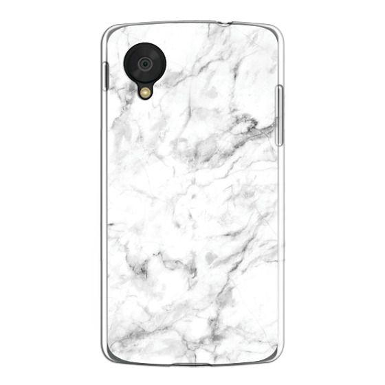 Nexus 5 Cases - White Marble