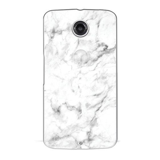 Nexus 6 Cases - White Marble