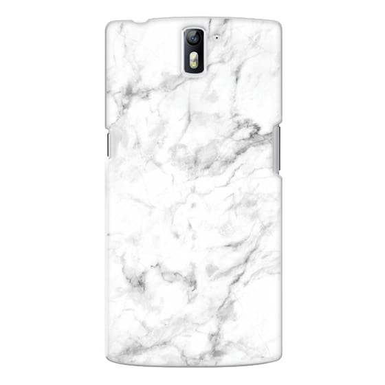 One Plus One Cases - White Marble