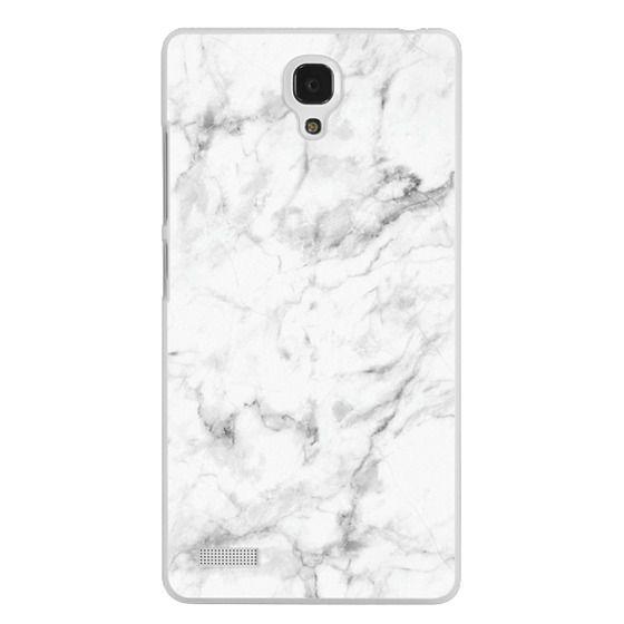 Redmi Note Cases - White Marble