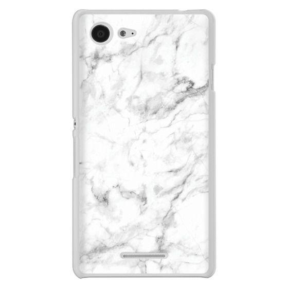 Sony E3 Cases - White Marble