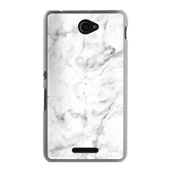Sony E4 Cases - White Marble