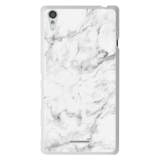 Sony T3 Cases - White Marble