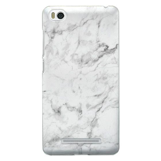 Xiaomi 4i Cases - White Marble