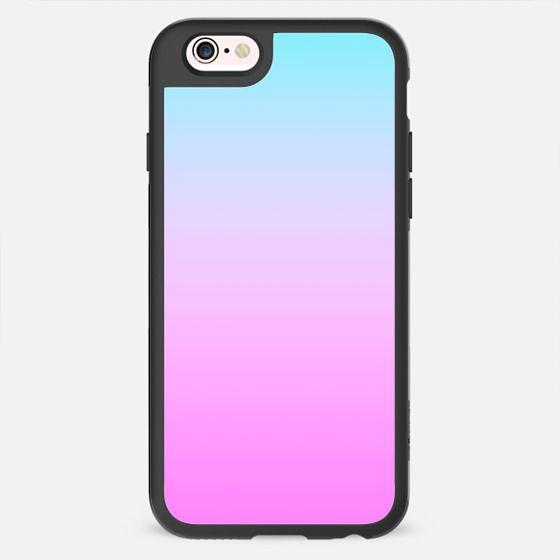 Pink Blue Sunset Gradient Color  -
