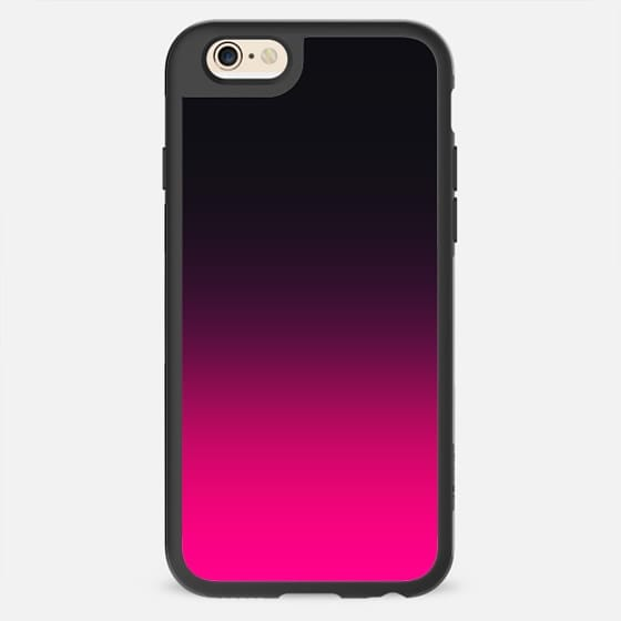 Simple Trendy Pink to Black Gradient -