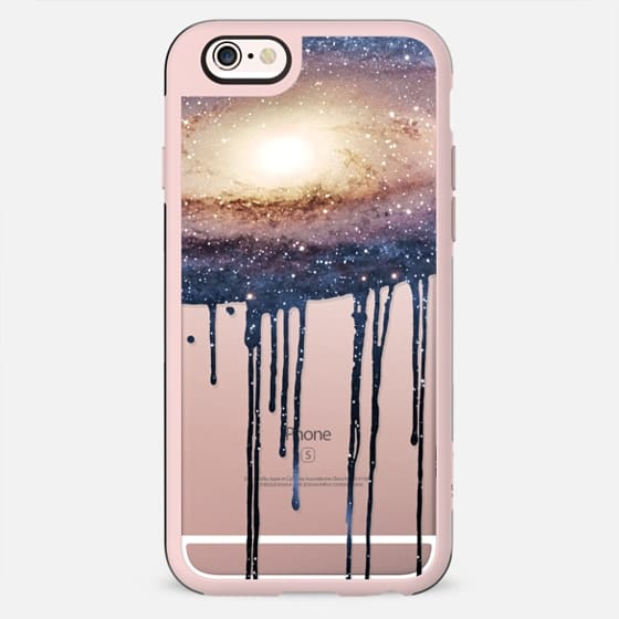 Blue Nebula Galaxy Stars Space Paint Drips by EightFour - New Standard Case