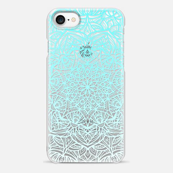 Mandala Aqua. Ocean Water Lace. - Snap Case