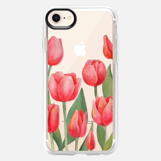 Watercolor Tulips. Spring Flowers - Snap Case