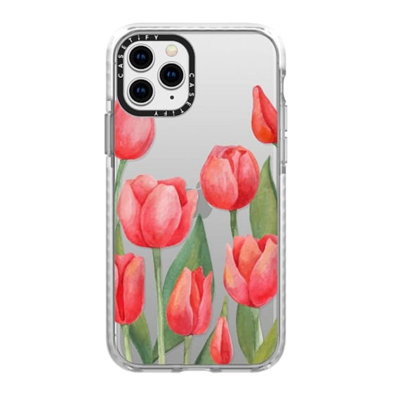 iPhone 11 Pro Cases - Watercolor Tulips. Spring Flowers