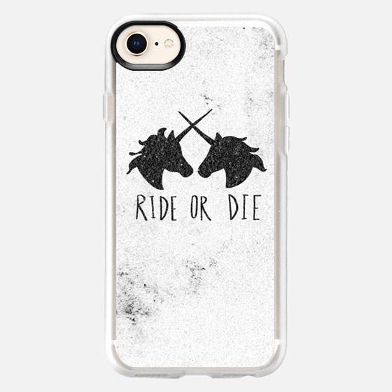 Ride or Die Unicorns Wood Case - Snap Case