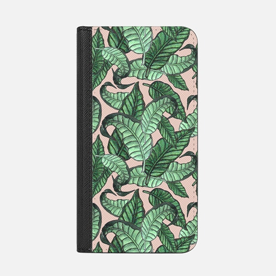 Leaves n.1 in pink - Wallet Case