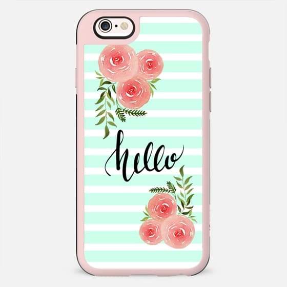 Hello - floral watercolor n.1 - New Standard Case