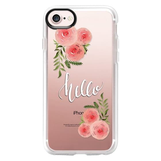 iPhone 7 Plus Cases - Hello - floral watercolor n.3