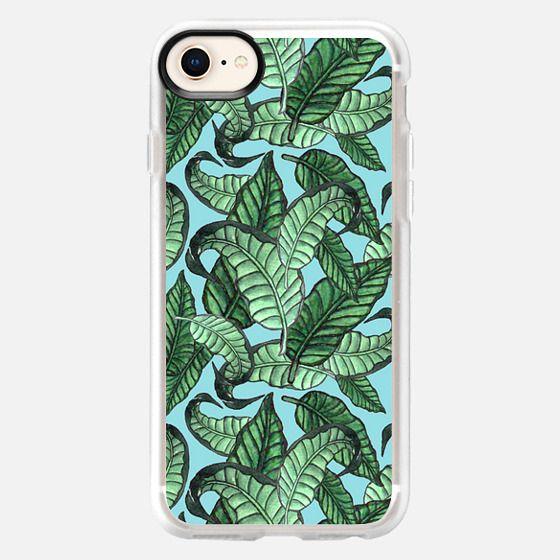 Leaves n. 1 in pale blue - Snap Case