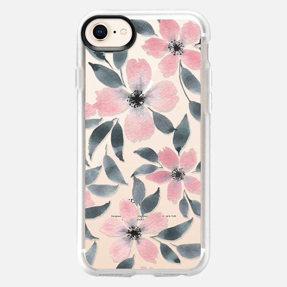 Spring flowers watercolor n.5 - Snap Case