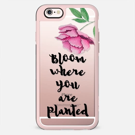 Bloom where you are planted n.1 in black - New Standard Case