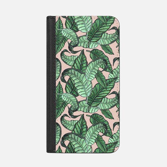 Leaves n.1 in pink - Wallet Case