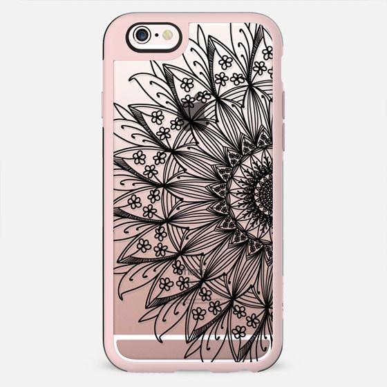 Black floral mandala n.1 - New Standard Case