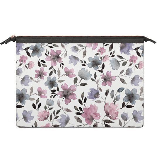 MacBook Air 11 Sleeves - Floral watercolor pattern n.1