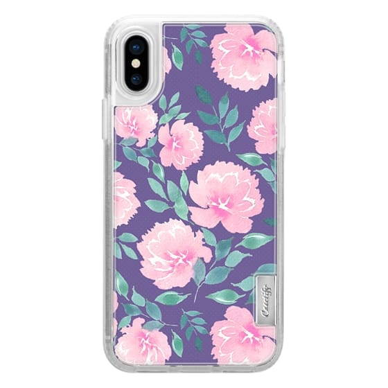 iPhone 7 Plus Cases - Pink floral pattern n.1 on Ultraviolet