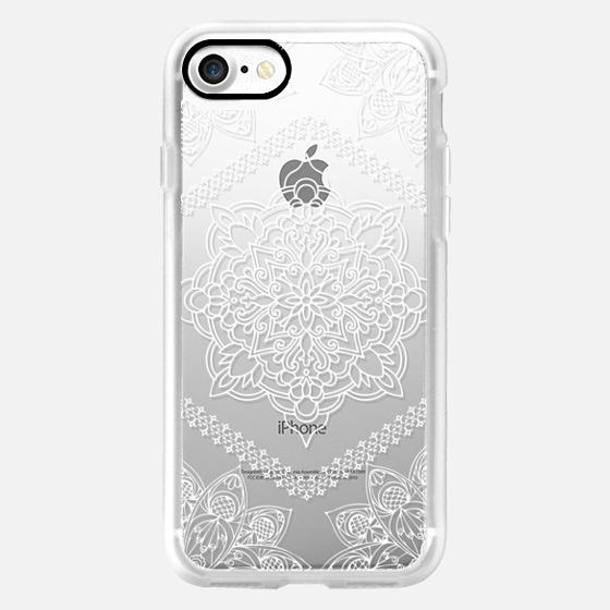 Mandala Forever In White Iphone 7 Case By Mandalamaze