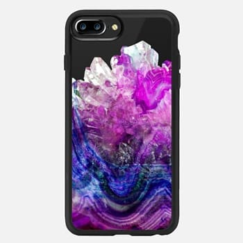 iPhone 7 Plus ケース Purple Amethyst Marble