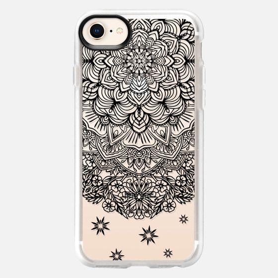 Black Mandala Lace Dreamcatcher - Snap Case