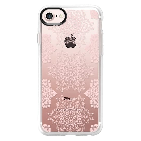iPhone 7 Cases - Rose Floral Mandala Lace Pattern