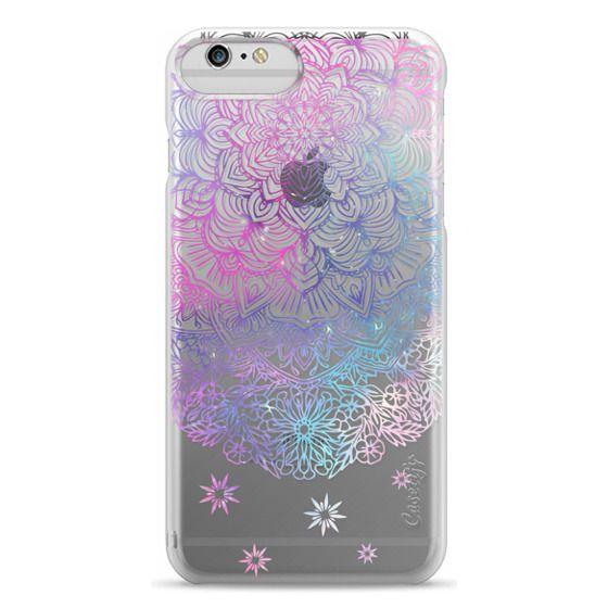 iPhone 6 Plus Cases - Duochrome Blue and Purple Mandala Lace Dreamcatcher